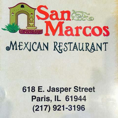 San Marcos Mexican Restaurant, Paris IL