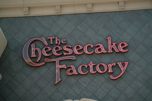 The Cheesecake Factory, Chestnut Hill MA