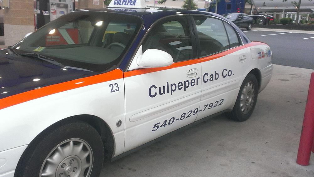 Culpeper Cab Co, Bealeton VA