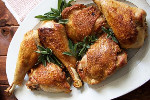 White Wine Braised Turkey Legs