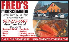 Fred's Bowling Alley, Roscommon MI