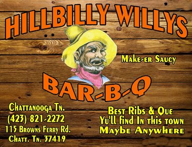 Hillbilly Willy's BBQ, Chattanooga TN
