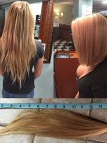 Before and After - Hair Donated