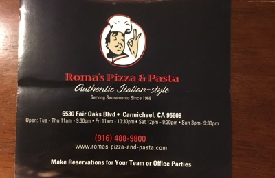ROMA Pizza and Pasta - Carmichael, CA