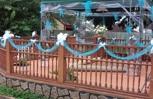 Wedding reception outside