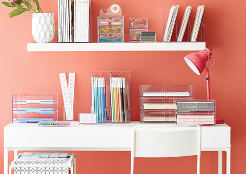 Organize your desk at home for back to school.