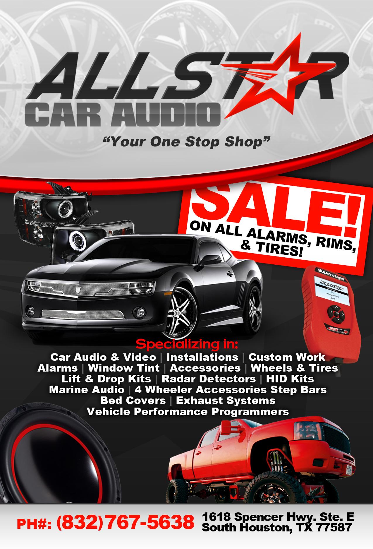 All Star Car Audio 1618 Spencer Hwy South Houston Tx