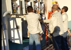 Noe's Electric & A/C Service - Weslaco, TX. Meter Loops and main disconnects to commercial or Industrials applications .