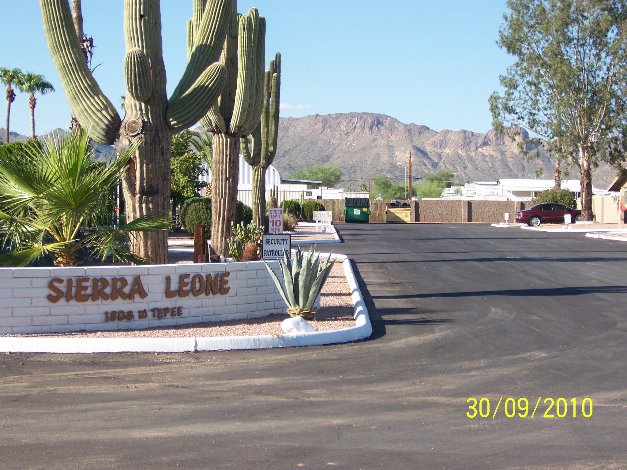 Sierra Leone RV And Mobile Home Park Apache Junction AZ 85120