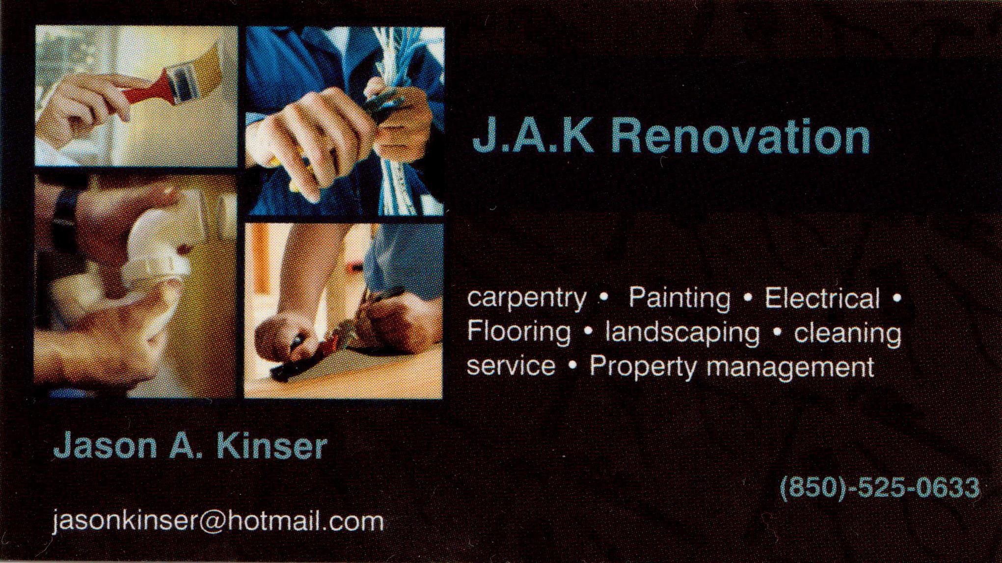 J A K Renovation Handyman Cleaning Service 5704 E S Dr Pensacola Fl 32505 Yp