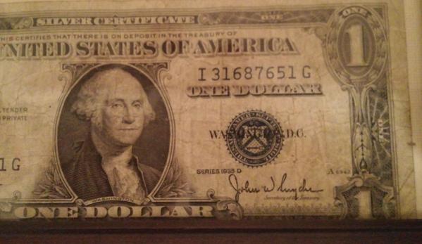 National Coin Broker. Value of this silver certificate 1928 D seris dollar bill