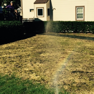Morning Dew Lawn Sprinklers Inc. - White Plains, NY. Morning Dew Lawn Sprinklers just finished a sprinkler system and repaired a lawn in White Plains, NY.
