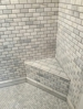 This is a photo of a custom marble shower we did in Claysville pa.