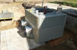5 ton package unit during installation