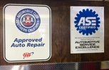 Automobile Club and ASE certified