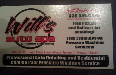 Will's Auto Spa & Mobile Detailing - Winston Salem, NC