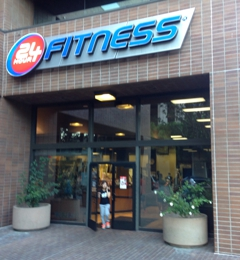 24 Hour Fitness - Los Angeles, CA. Front entrance