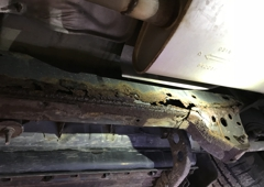 Marley Auto Sales - Burlington, KY. Frame completely rusted out and not fixable!