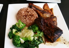 Sattdown Jamaican Grill - Studio City, CA. Jerk chicken meal :)