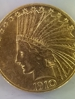 1910 $10 Chief gold coin
