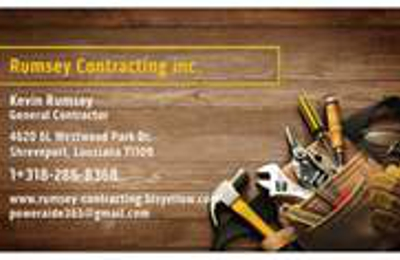 Rumsey contracting 4620 6l westwood park dr shreveport la 71109 rumsey contracting shreveport la our business card reheart Image collections