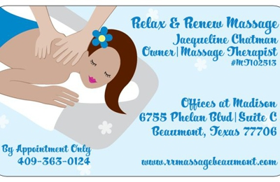 Relax and Renew Massage - Beaumont, TX