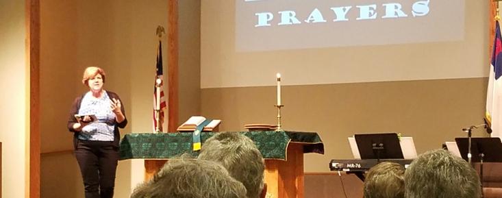 Pastor Jackie  teaching us about Praying  BOLDLY