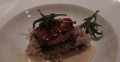 Depot Restaurant - Visalia, CA. Appetizer salmon on risotto with caviar