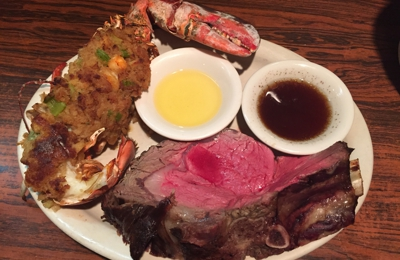 Mario's Place - Westport, CT. Prime Rib with half a lobster!!!