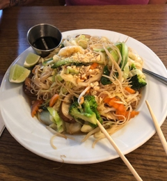 Island Pho & Grill - Matlacha, FL. Stir Fried Noodles & Vegetables
