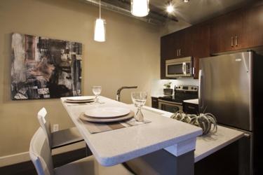 Quartz countertops for apartment.