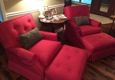 Mack's Upholstery. Club chairs and ottomans