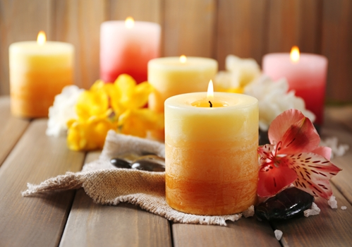 Don't forget basic fire safety when lighting candles.