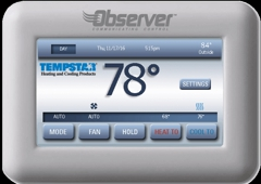 A/C Repairs Inc. - Lutz, FL. Observer Wifi Enabled Remote Managed Thermostat