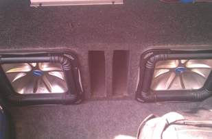 Car speakers in speaker box..an also comes with wiring an amp asking $300.00 no less than $250.00