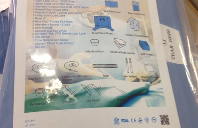 US Medical Intl. - Miami, FL. Surgical Pack US Medical Intl Medint tummy breast