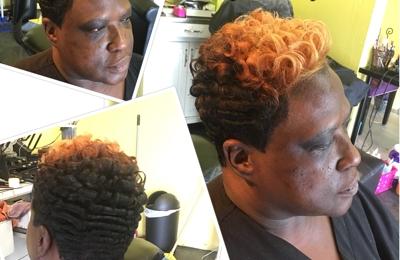 Christy E inside Hair Radiant Salon - Dallas, TX. Color cut style
