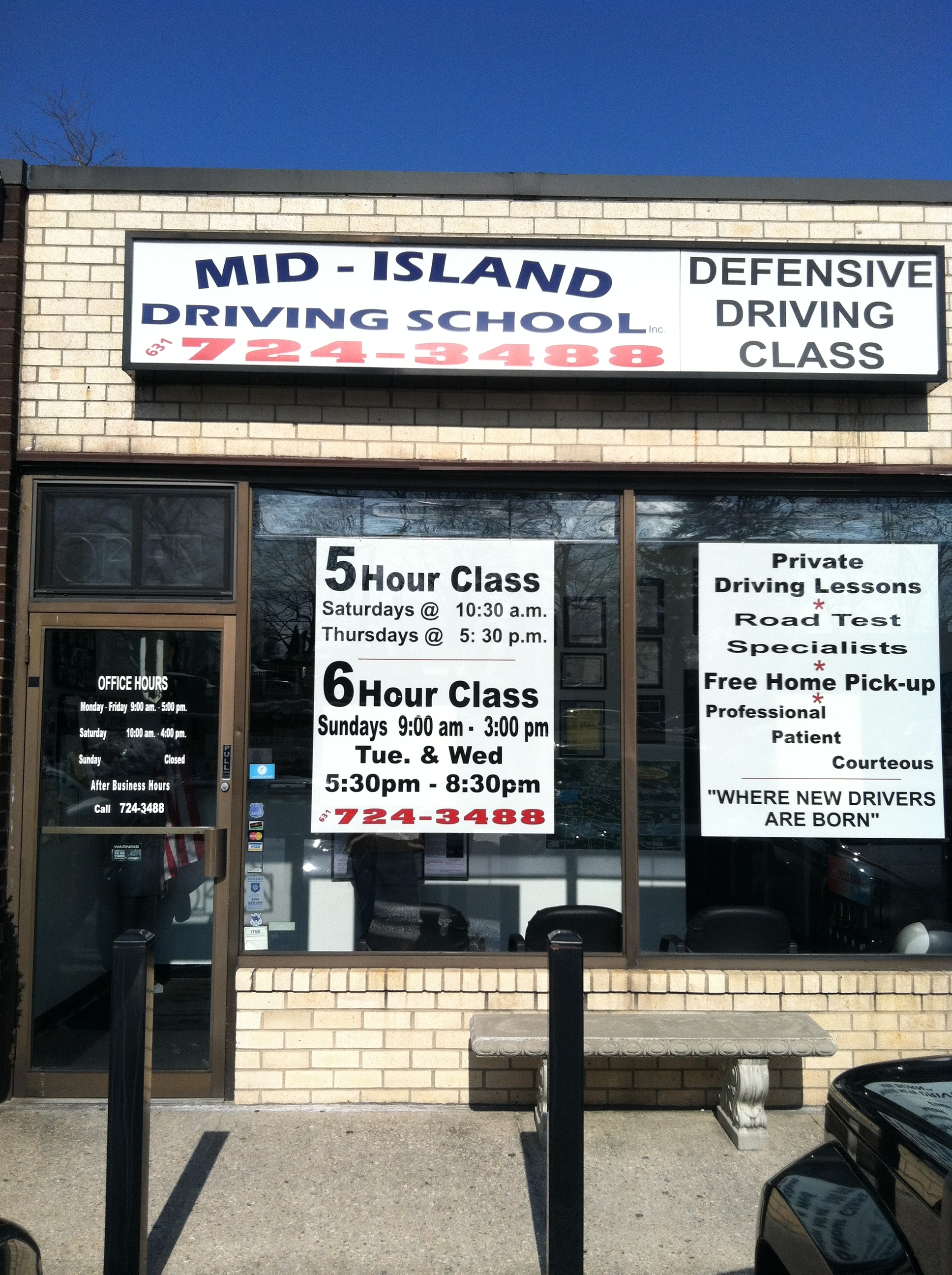Mid Island Driving School 323 Smithtown Blvd Ronkonkoma Ny 11779