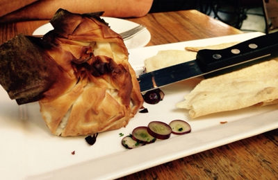 Purple Cafe & Wine Bar - Seattle, WA. Baked Brie