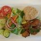 Green Leaves Vegan - Los Angeles, CA. Soy Chicken & Rice