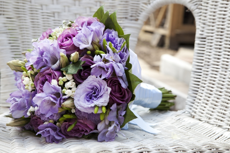 Purple flowers signify accomplishment and can be sent as a congratulatory gift.