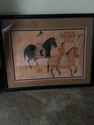 This resembles Lady Gougous Spring Outing ,Song or Tang Dynasty