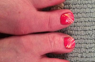 Serenity Nails & Spa - Springfield, VA. Lovely toe art by with