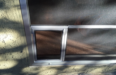 A-1 Home Improvement - North Hollywood, CA. Custom pet screen installed into sliding screen door