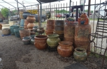 Clay pots all sizes.
