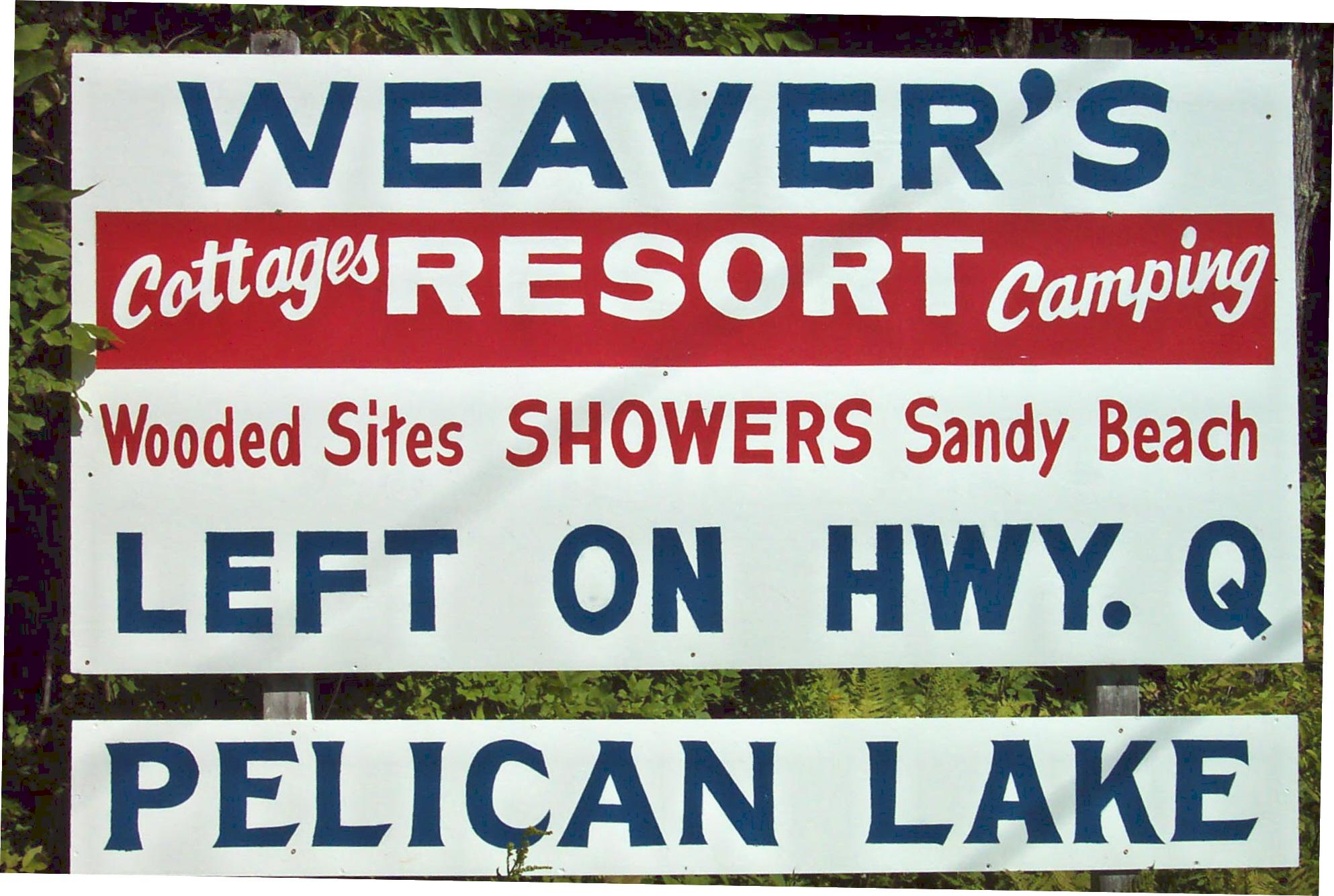 Weaver's Resort & Campground, Pelican Lake WI