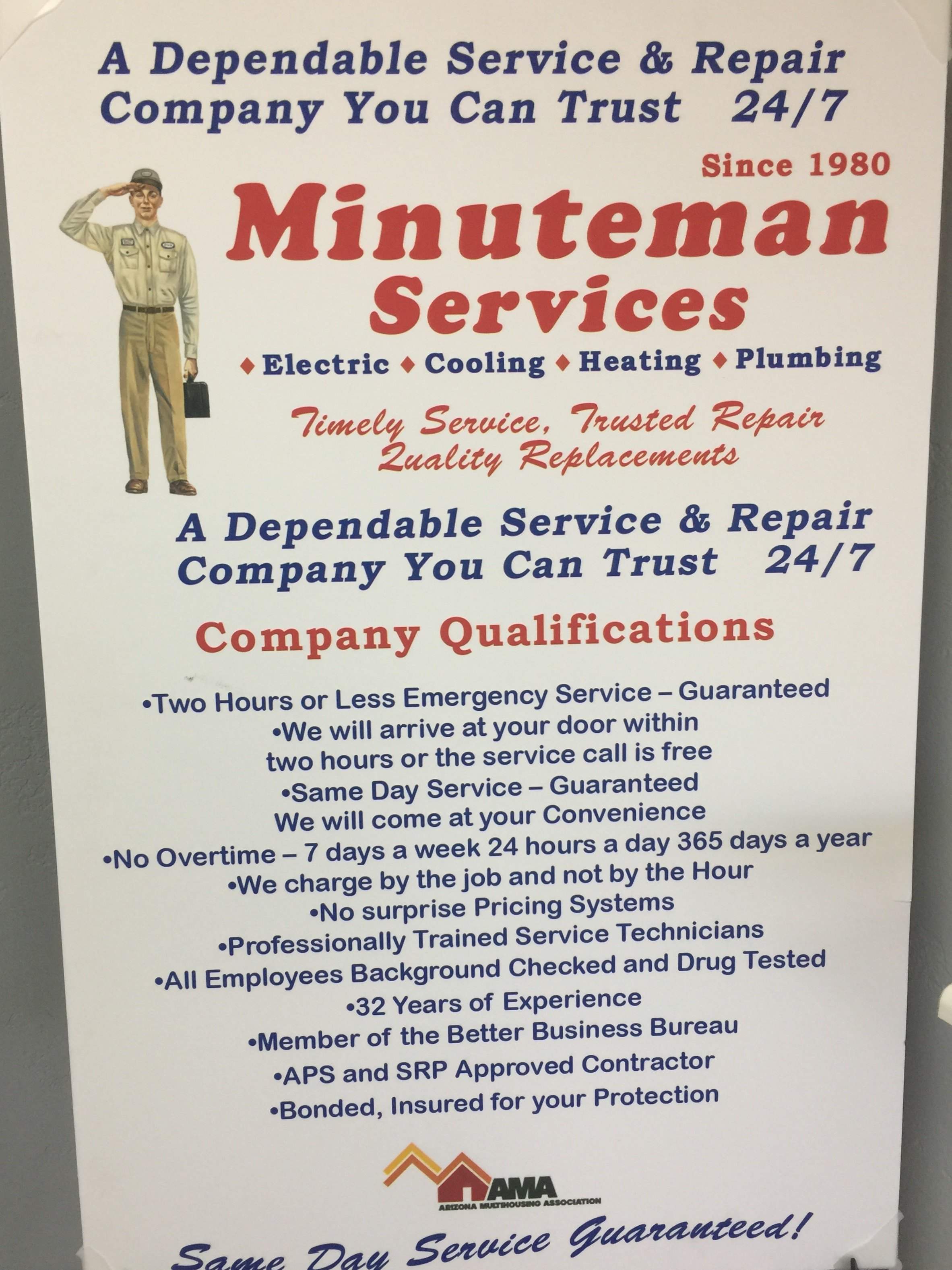 Minuteman Home Services Llc 2036 N Gilbert Rd Ste 2 155 Mesa Az Wiring Sub Panel For Generator Circuits Generators Lighting Main Electrical Smoke Detectors Surge Protection Code Compliance Upgrades