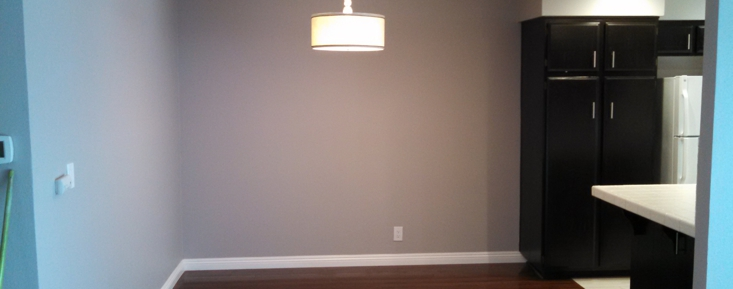 Laminate as installed in dining room