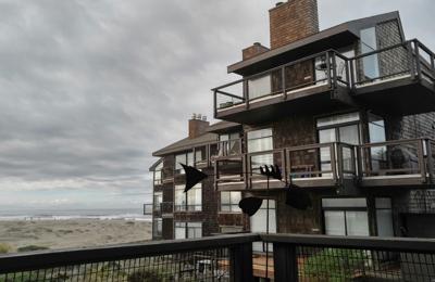 Pajaro Dunes Resort - Watsonville, CA. View from veranda at Pelican unit 58.