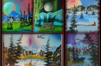Hub of Alaska - Glennallen, AK. original  Alaskan oil paintings.. by Yvonne gossett